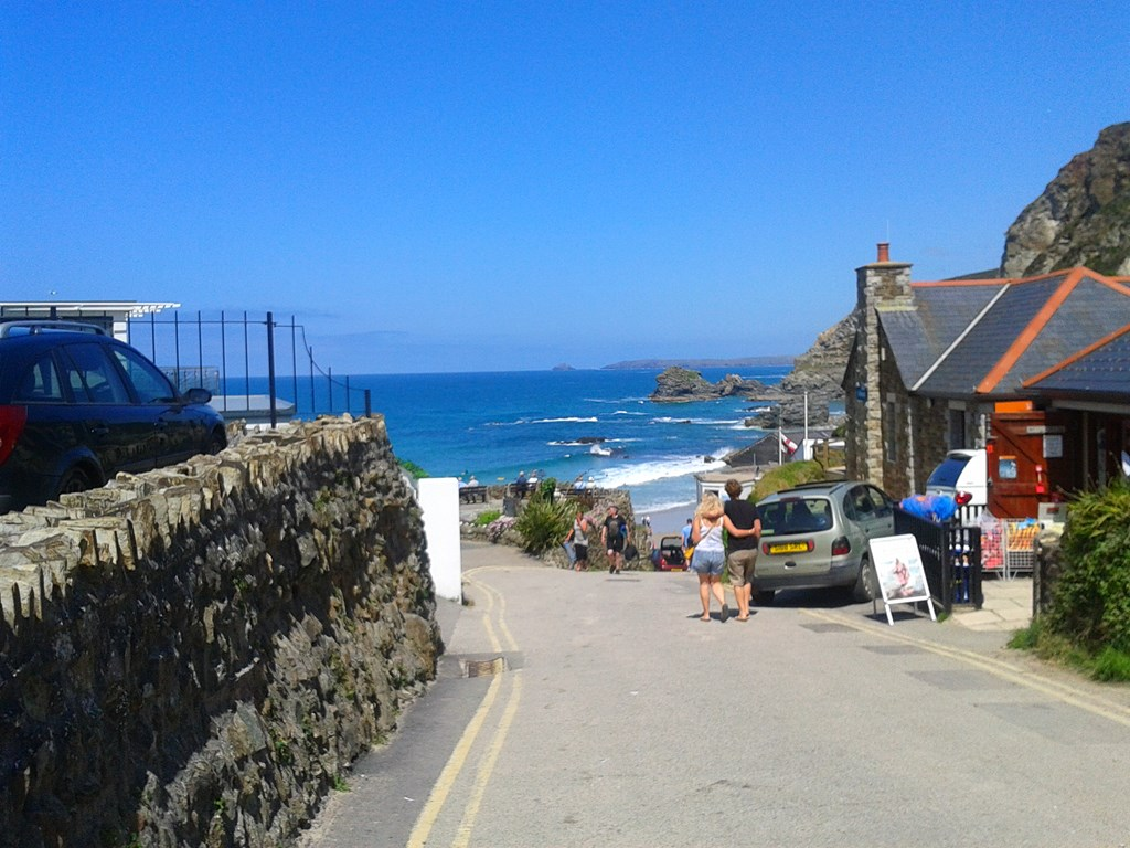 He took me here, to Cornwall, my favourite place I said 'how did you  guess?'