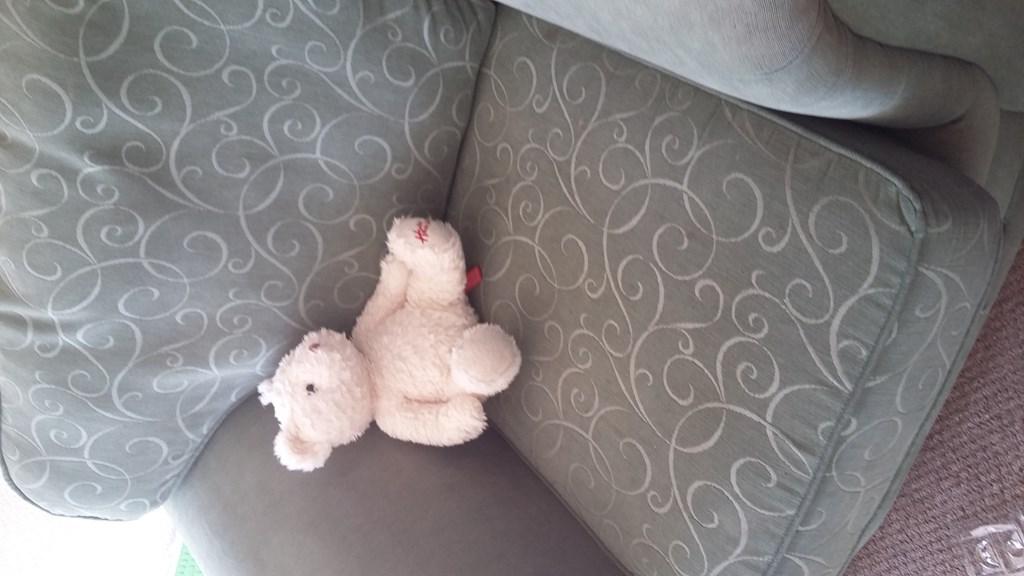 Im the one on the sofa!  Barry the Bear!
