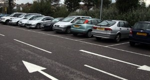 Vehicle left in place as car park is demolished