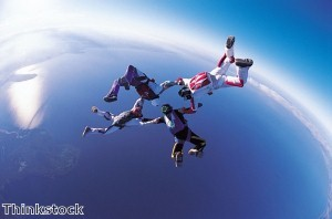 Woman taking on tandem sky dive for charity