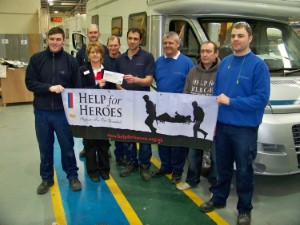 Auto-Trail raises £5k for Help for Heroes