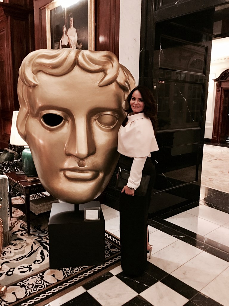 Out during the BAFTA's in London