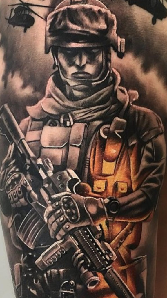 Tribute tattoo to use guys and girls in milatry.  What do you think ?