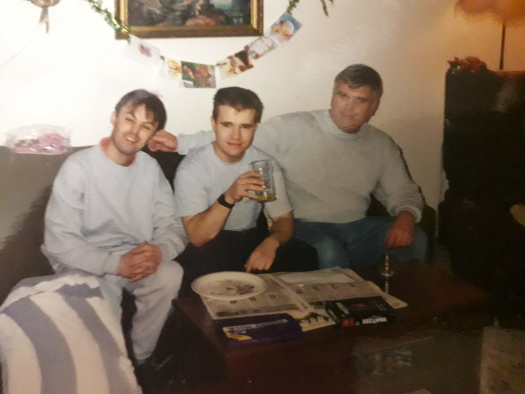 I was on Xmas home leave, my brother on left & me in middle