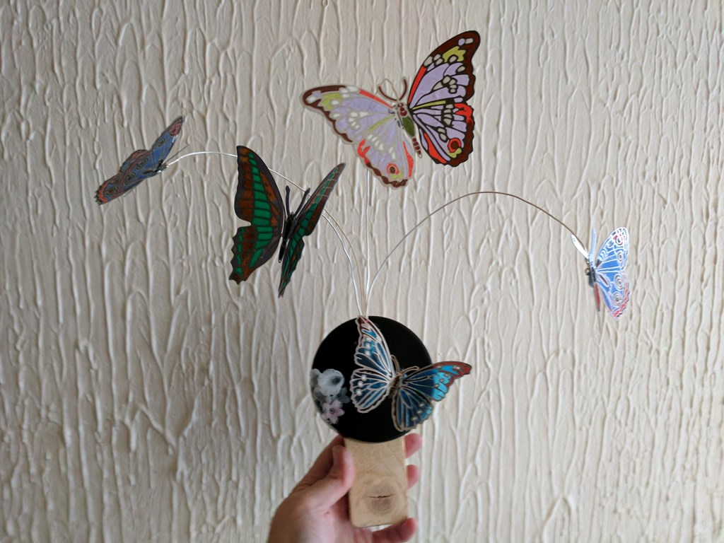 Floating butterfly sculpture I made today