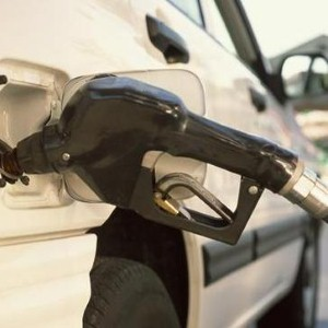 Man has near miss filling up car
