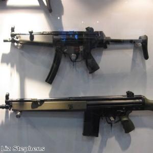 Man lets employee fire an AK-47 at him