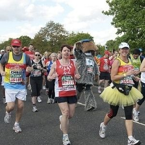 Who ran the London Marathon in the craziest style?