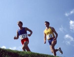 Service personnel run half-marathon relay for charity