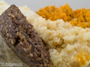 Support soldiers with haggis-eating contest