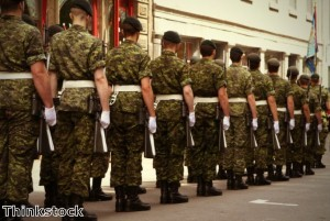 Welcome parade held for homecoming soldiers
